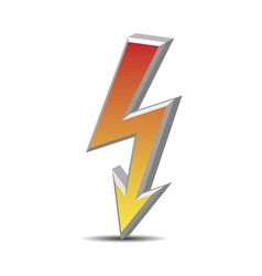 Flash danger symbol vector