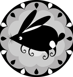 funny Chinese horoscope rabbit vector image