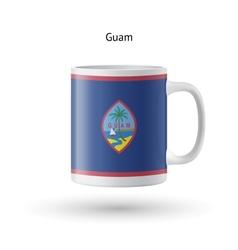 Guam flag souvenir mug on white background vector