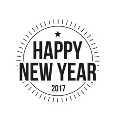 Happy 2017 New Year lettering vector image vector image