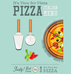 Italian pizza poster vector