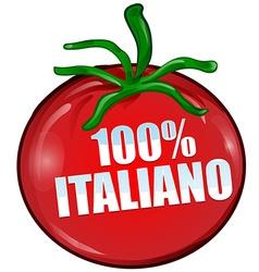Italian tomato vector