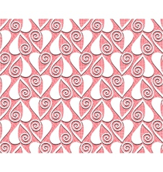 lace valentines day heart love seamless pattern vector image vector image