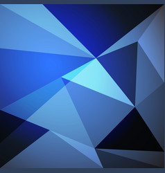 Low poly design element on blue gradient vector