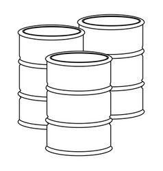monochrome contour with oil barrels vector image vector image