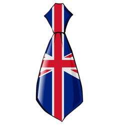 necktie in national colours of UK vector image