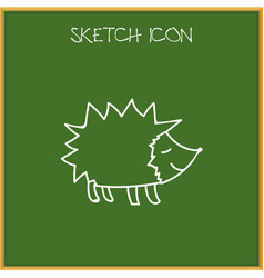 of zoo symbol on hedgehog vector image vector image