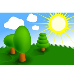 picture of three trees vector image vector image