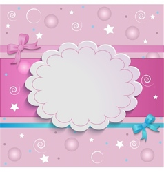 Pink card vector