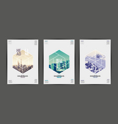 poster annual report201720182019 flyer vector image vector image
