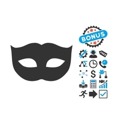 Privacy Mask Flat Icon with Bonus vector image vector image