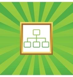 Scheme picture icon vector