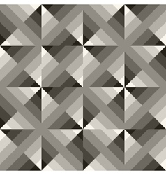 Seamless black white geometric square vector