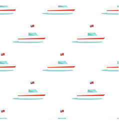 seamless pattern with yacht icon isolated on white vector image vector image