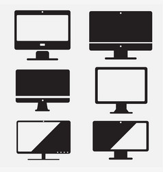 Set of computer icon pc flat design vector