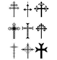 set of crosses vector image
