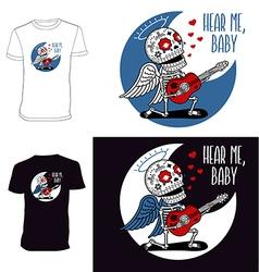 Skeletons T shirt Angel Serenade vector image