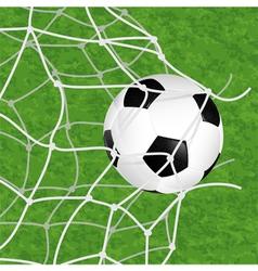 Soccer ball in net vector