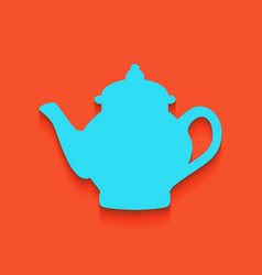 Tea maker sign whitish icon on brick wall vector