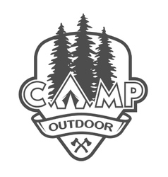 The camp outdoors hiking vector image