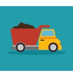 Tipper truck construction icon design vector