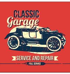 Vintage classic garage design vector