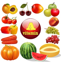 Vitamin a herbal products vector