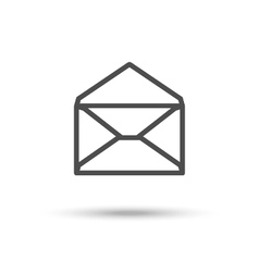 Opened envelope icon mail icon vector