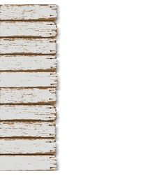 Old wooden fence vector