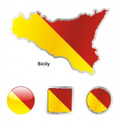 sicily vector image