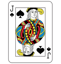 Jack of spades french version vector