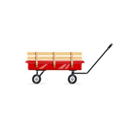 Cart childs toy vector