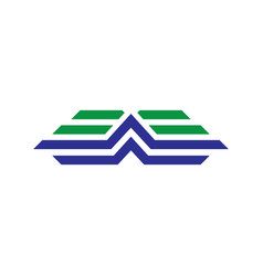 abstract business arrow logo vector image