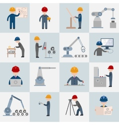 Engineering icons flat vector
