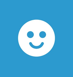 Smile icon white on the blue background vector