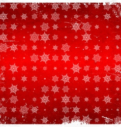 Snowflake pattern on aged card vector