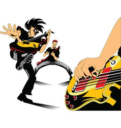 Cartoon rock musician vector