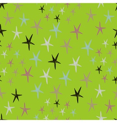 Seamless stars pattern with colorful doodles on a vector