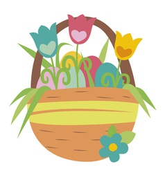 Easter basket vector