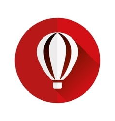 Hot-air balloon flat icon vector