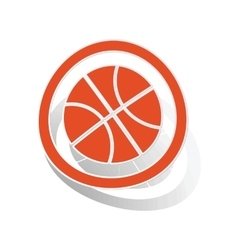 Basketball sign sticker orange vector