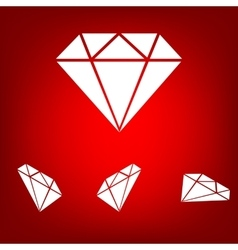 Diamond icon - set vector