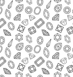 Pattern of circuit cut gems vector