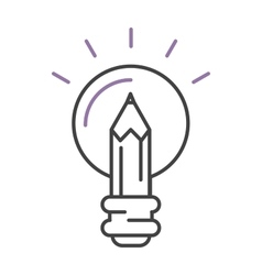 Light lamp sign idea icon concept bulb in hand vector