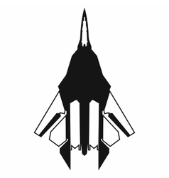 Fighter jet icon simple style vector