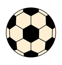 Black and white soccer ball graphic vector