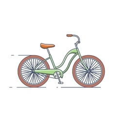 Bicycle isolated line style vector