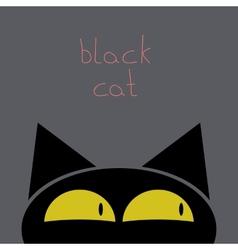 A black cat vector