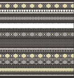 African seamless pattern endless stripes vector