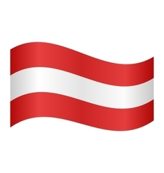 Austrian flag waving vector